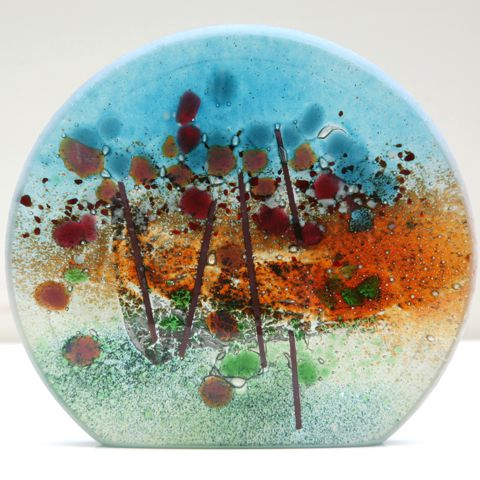 Ewa Wawryzniak kiln fired glass plate