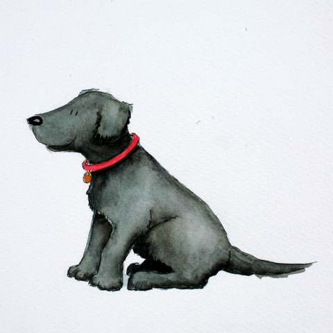 Kirsten Wilson black dog illustration