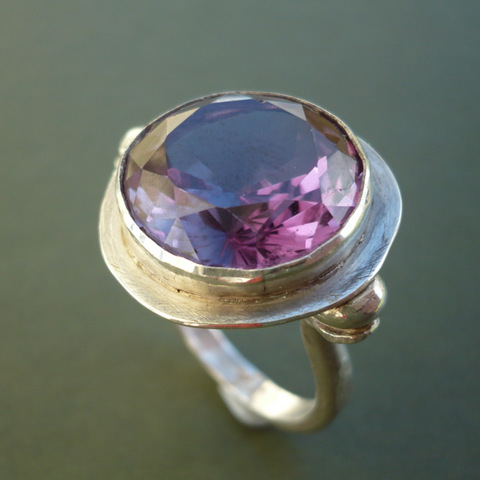 Kirsten Wilson jewellery purple gemstone ring