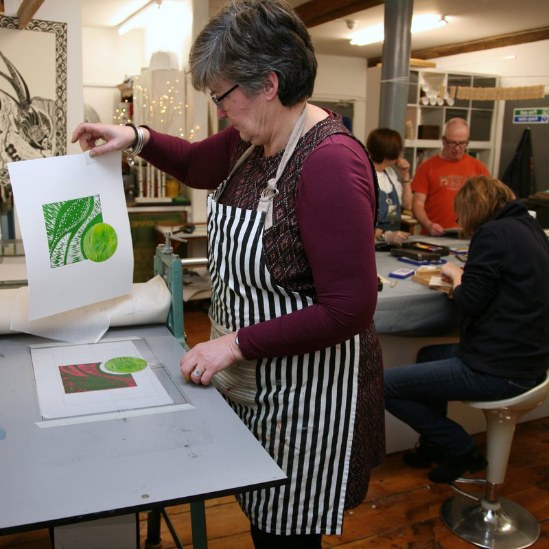 Printmaking classes with Tania Scott Durrant